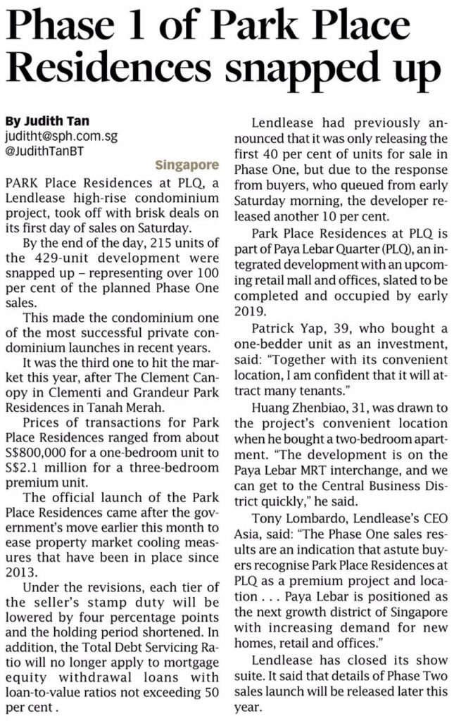 Park Place Residences launch day, phase 1